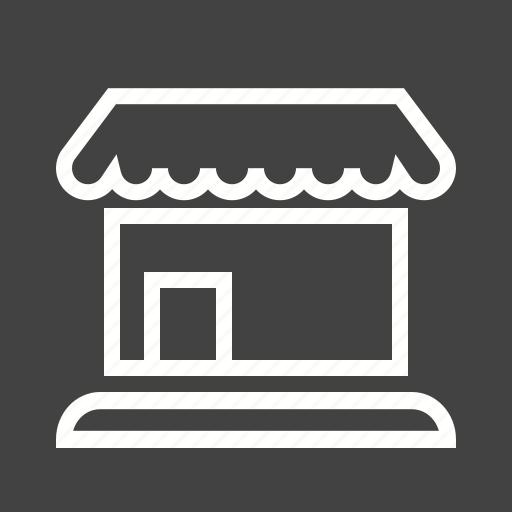 building, facade, mall, market, shop, store, supermarket icon