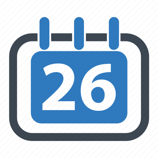 annual, delivery date, schedule icon