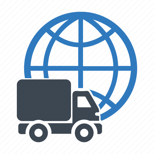 delivery, shipping, worldwide icon