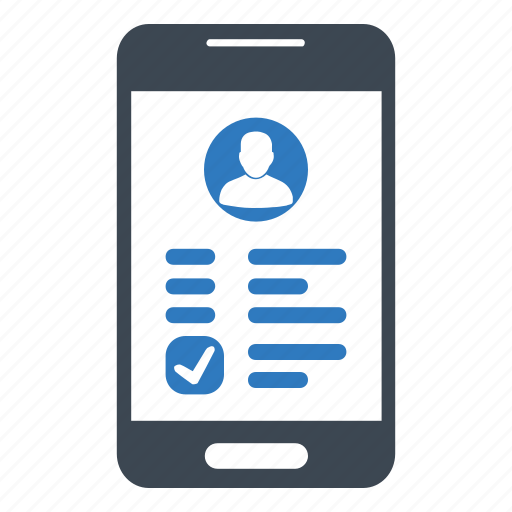 bank account, mobile banking, user account icon