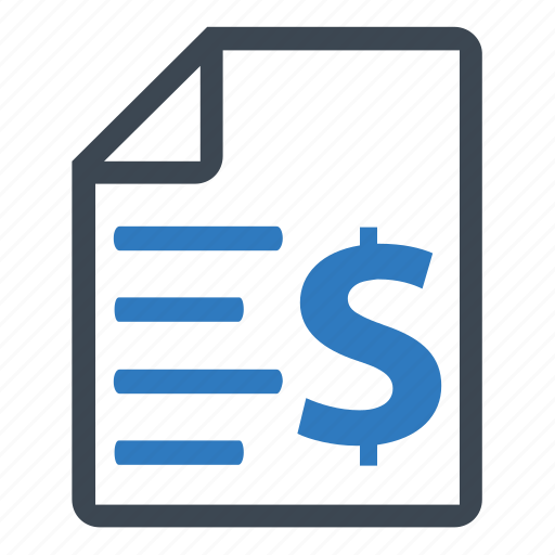 bill, finance, invoice icon