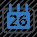 annual, calendar, date, delivery date, estimated, schedule icon