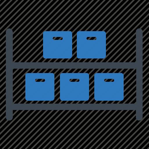 shelves, storage, wholesale icon