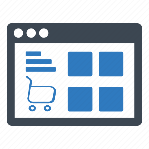browser, ecommerce, online shop icon