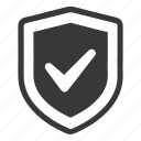 checkmark, protected, protection, secure payment, secure shopping, trusted icon
