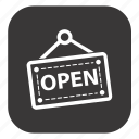board, open shop, open sign, open store, store icon