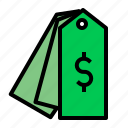 dollar, price, product, tag icon