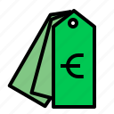euro, price, product, tag icon