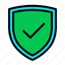 defence, safe, shield, trusted, verified icon