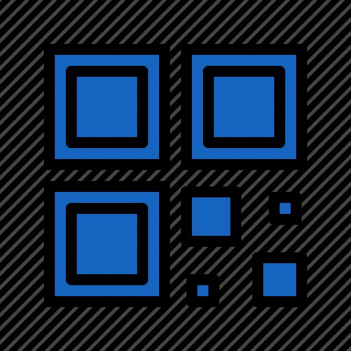 code, commerce, id, qr, square icon