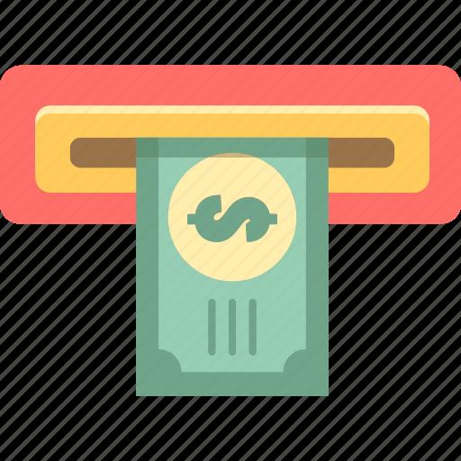 atm, bank, banking, deposit, withdrawal icon