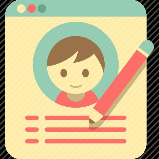 account, edit account, edit profile, edit user, profile, user icon