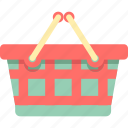 basket, grocery basket, grocery shopping, retail, shopping, shopping cart icon