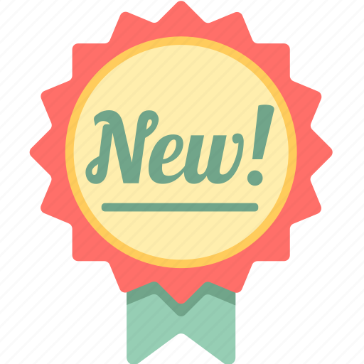 badge, brand new, new, new arrival icon