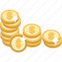 cash, coin, coins, money icon