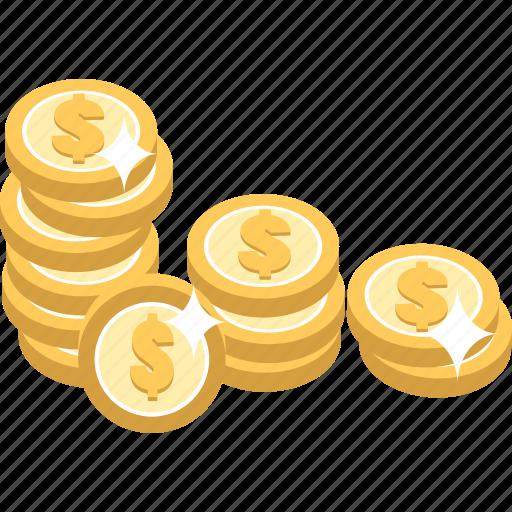 cash, coin, coins, money icon