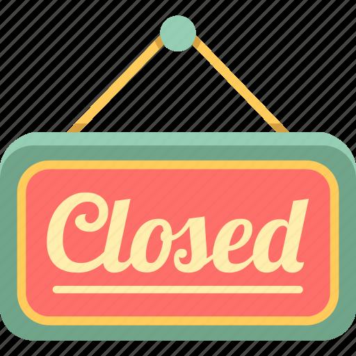 close, closed, closed sign icon