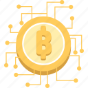 bitcoin, crypto, cryptocurrency, digital money, virtual currency icon