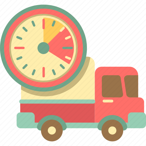 delivery time, fast delivery, fast shipping, shipping time, truck icon