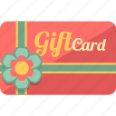 coupon, gift card, giftcard, shopping card, voucher icon
