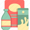 groceries, grocery, items, products icon