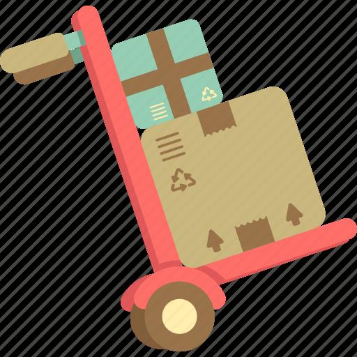 dolly, hand truck, heavy duty, trolley icon