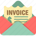 bill, invoice, order, po, purchase order, receipt icon