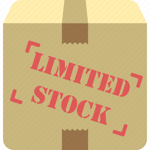 limited stock, limited stock supply, limited supply, packaging, parcel icon