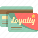 loyalty card, loyalty program, membership card, reward card icon