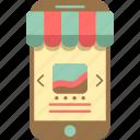e-commerce, ecommerce, mobile, mobile shopping, online shopping, shopping icon