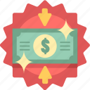 back, cash, dollar, guarantee, money, money back guarantee, payment icon