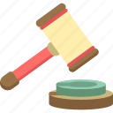auction, gavel, judge, justice, law, online, online auction icon