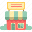 market, retail, shop, shoplot, store, storefront icon