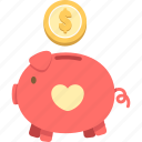 pig, piggy bank, saving, savings icon