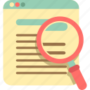 magnifier, magnifying glass, optimization, search, zoom icon