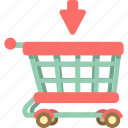 shopping, cart, basket, trolley, shopping cart