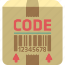 barcode, price label, price tag, qr code, tracking code icon