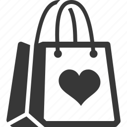 favorite products, gift, shopping bag icon