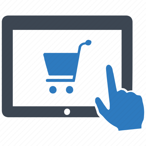 ecommerce, online, purchase, shopping, tablet icon