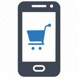 mobile, online store, purchase, shopping icon
