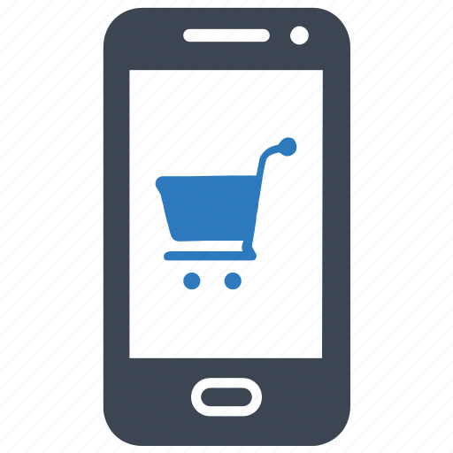 Mobile, purchase, online store, shopping icon