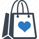 favorite, gift, shopping bag icon