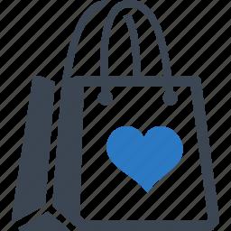 favorite, gift, shopping bag icon