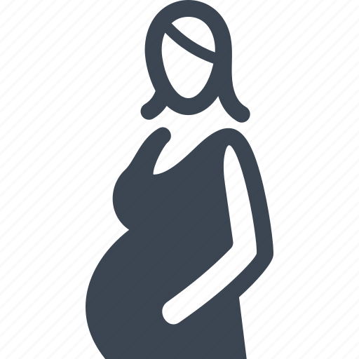 clothing, maternity, pregnant icon