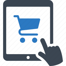 ecommerce, mobile shopping, online shopping, tablet icon