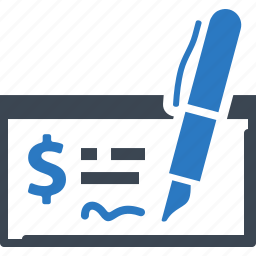 bank check, finance, money icon