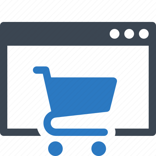 E-commerce, online shop, online shopping icon