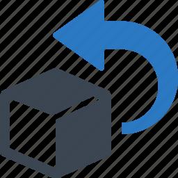 box, easy returns, return, shopping icon