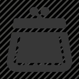 coin purse, money, savings icon