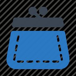 coin purse, savings, shopping icon